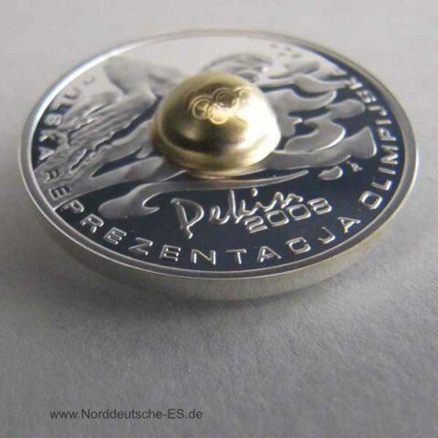 Polen 10 Zloty Silbermünze Schwimmen Olympiade Peking PP 2008 in Etui mit Zertifikat