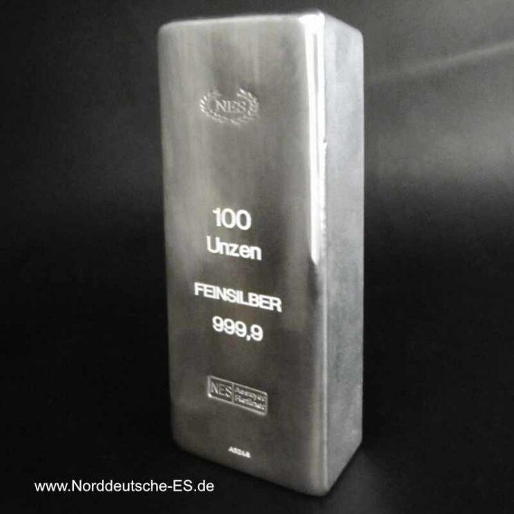 Feinsilberbarren 100 Unzen 999.9 NES