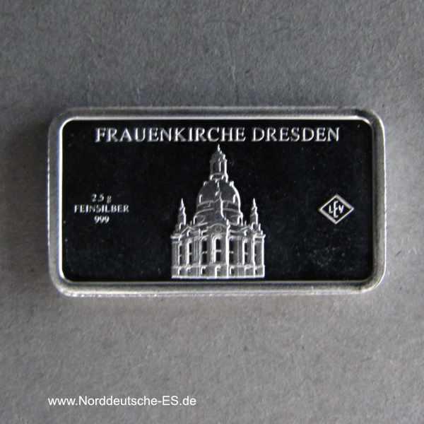 Kleiner Silberbarren Frauenkirche Dresden Wahrzeichen Deutschlands