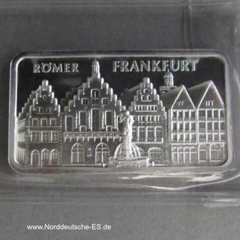Silberbarren Heraeus Römer Frankfurt