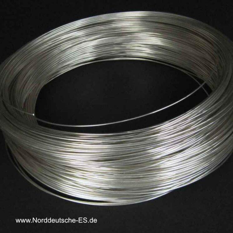 Silberdraht 999-1mm-weich-rund