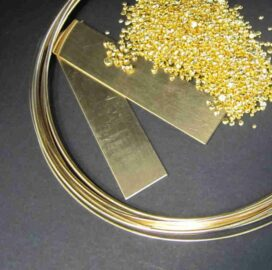 Gold-Draht Blech Granalien