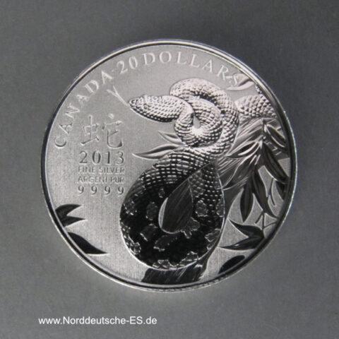 Kanada 20 Dollars Schlange 2013