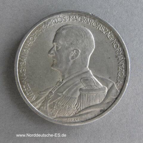 Ungarn 5 Pengö Silber Admiral Miklós Horthy 1939