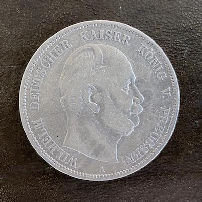 Kaiser Wilhelm I - 5 Mark -Silber 1876