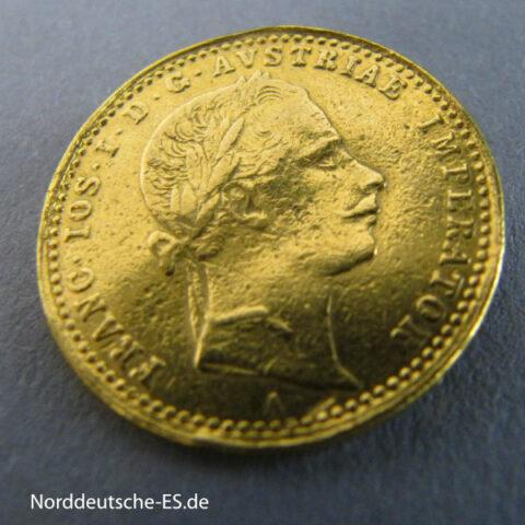 Österreich Haus Habsburg 1 Dukat Goldmünze Kaiser Franz Joseph I 1860 A Wien