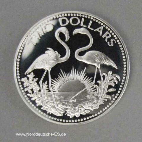 Bahamas 2 Dollars Flamingo PP 1974-1980