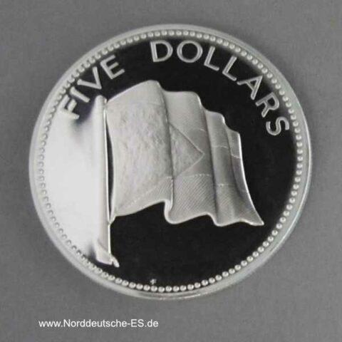 Bahamas 5 Dollars 1974-1980