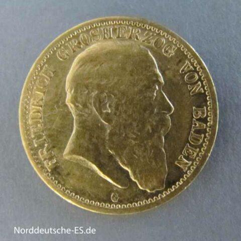 Deutsches Reich 10 Mark Friedrich Baden 1903 G