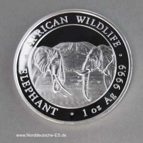 Somalia Elephant 1 oz Silber 2020 African Wildlife 100 Shillings